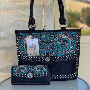NWT Montana west conceal carry handbag&wallet set